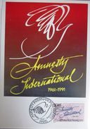 Carte Postale Maximum - 1991 - Amnesty International - YT 2728 - Cartes-Maximum