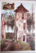 Carte Postale Maximum - 1991 - Carennac - YT 2705 - Luquet - Cartes-Maximum