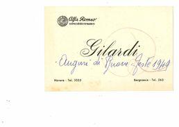 BORGOSESIA BIGLIETTINO CONCESSIONARIA ALFA ROMEO GILARDI 1949 - Vercelli