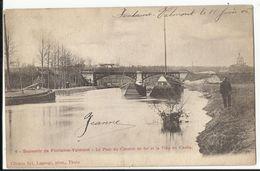 Souvenir De Fontaine-Valmont - Le Pont Du Chemin De Fer Et La Villa Du Castia (navigation Intérieure Binnenscheepvaart) - Merbes-le-Chateau