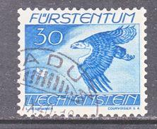 LIECHTENSTEIN  C 20  (o)   EAGLE - Air Post