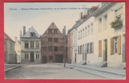 Tournai - Maisons Romanes à Saint-Brice,où Se Trouve Le Tombeau De Childéric ... Jolie Carte Couleur -1908 (voir Verso) - Tournai