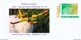 SPAIN, Military Aviation, Italy - Vigili Del Fuoco, Bombardier CL-415 Casarza Ligure, Italy - September 10, 2016 - Aerei