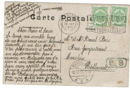 CP Avec 2x 83 Sans Bdl Obl Charlery  Expo 1915 - 1893-1907 Armoiries