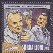 Sierra Leone 2016 Space Sergel Korolev Satellite MNH 1V - Sierra Leone (1961-...)