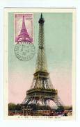 Carte Maximum  PARIS La Tour EIFFEL De 1939 - 1930-39