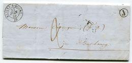 COTES D OR De VEUVEY SUR OUCHE LAC Du 21/06/1849 Boîte Rurale J + Dateur T15 BLIGNY SUR OUCHE - 1849-1876: Periodo Clásico