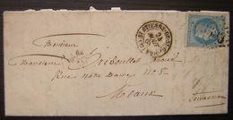 1868 Saint Etienne De Saint Geoirs (isère) GC 3583 Lettre Pour Meaux - Marcophilie (Lettres)