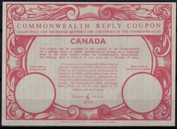 CANADA Type XIIIa  6 CENTS Commonwealth Reply Coupon Reponse Antwortschein IRC   Mint Without Postmark **  UT13 - Antwortcoupons