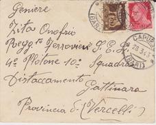 ITALIA 1943  SU BUSTA DA CAPURSO - Storia Postale