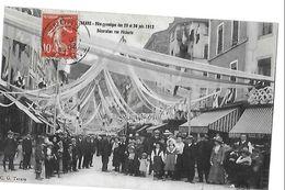 TARARE FETE GYMNIQUE 29 JUIN 1912  DECORATION RUE PECHERIE    PERSONNAGES   Defaut Coin Bas Gauche  DEPT 69 - Tarare