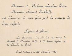 Portel Des Corbières  -  Mariage Familles Rosa Et Kichkoff - Boda