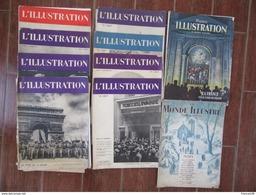 Lot De 8 REVUES L'ILLUSTRATION De 1938 Et 1939 Et 2 REVUES LE MONDE ILLUSTRE 1937 - Journaux - Quotidiens
