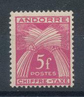 Andorre N°29* Taxe - Usados