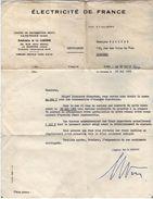 VP11.360 - Lettre - Electricité De France LA GARENNE ( Seine ) - Electricity & Gas