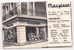 65 Hautes Pyrénées  Marylene Et Hôtel Du Luxembourg à Lourdes  Gesta Propriétaire Dépliant à 3 Volets Type Panoramique - Dépliants Turistici