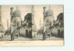 Egypte : LE CAIRE :  Une Mosquée. Vue Stéréoscopique.  2 Scans. Edition LL - Cairo