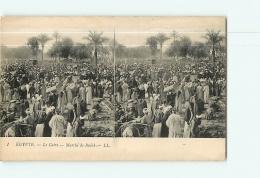 Egypte : LE CAIRE :  Marché Du Bulâk. Vue Stéréoscopique.  2 Scans. Edition LL - Cairo