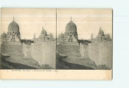 Egypte : LE CAIRE :  Tombeaux Des Califes. Vue Stéréoscopique.  2 Scans. Edition LL - Cairo