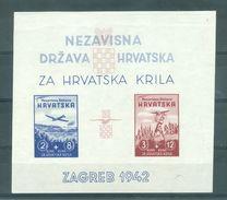 KROATIE - Mi Blok Nr 1 - MNH** - Cote 60,00 € - Croatie