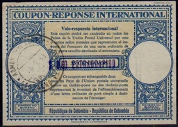COLOMBIA / COLOMBIE London Type XVIu  Surcharge In Violet 0,60 EXTRARRAPIDO / 35 CENTAVOS Int. Reply  Coupon Reponse IAS - Colombie