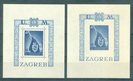 KROATIE - Mi Blok Nr 3A + 3B - MNH** - Cote 60,00 € - Croatie