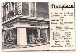 65 Hautes Pyrénées  Marylene Et Hôtel Du Luxembourg à Lourdes  Gesta Propriétaire Dépliant à 3 Volets Type Panoramique - Folletos Turísticos