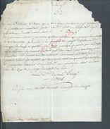 ANCINNE LETTRE DU CITOYEN BOUYER AMGOULEME À CHAMPAGNE MOUTON LIRE : - Manuscrits
