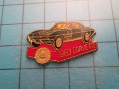 Pin613F Pin's Pins : Grand Et Beau Pin's VOITURE CHEVROLET CORVETTE 1963   ; Marquage Au Dos : - --- - - Corvette