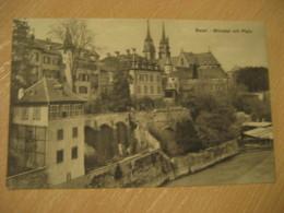 BASEL Basle Munster Mit Pfalz Cathedral Post Card Switzerland - BS Bâle-Ville