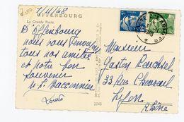 """7#  FRANCE - M DE GANDON  N° 719B + 719 SUR LETTRE OBLITÉRÉ """"POSTE AUX ARMÉES"""" DU 3/11/1948 - Military Postmarks From 1900 (out Of Wars Periods)"""