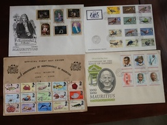 5 ENVELOPPES FIRST DAY COVER MAURITIUS - Maurice (1968-...)