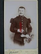 PHOTO CDV 10,5 X 6,5 Cms  Soldat Militaire Français 149 ème Régiment D'Infanterie  Photo SCHERR -  EPINAL  (Vosges) - Guerre, Militaire