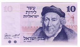 ISRAEL 10 Lira 1973 Pick 39A UNC- - Israele
