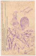 """1916 RARE Illustration Ronéotypé JOYEUSES PAQUES. 6e Infanterie Colonial. 12° Cie. SP 173. """"Souvenir Des Tranchées"""" - Cartes De Franchise Militaire"""