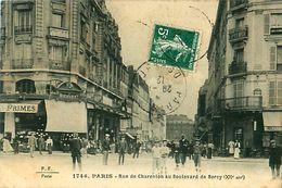 Cpa PARIS XII - Rue De Charenton Au Boulevard De Bercy - Au Marché De Bercy ( Aujourd'hui Monoprix ) - Arrondissement: 12