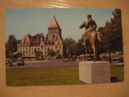 LAUSANNE Monument General Guisan Chateau Castle Post Card VAUD Switzerland - VD Vaud