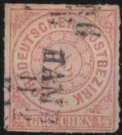 Nord   .   Michel   .     3        .            O       .               Gebraucht - Norddeutscher Postbezirk