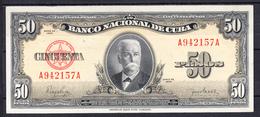 CUBA  1950    50 PESOS. CALIXTO GARCIA IÑIGUEZ   EBC .  B872 - Cuba