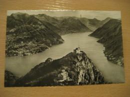 LUGANO Monte San Salvatore Ginnastica Gymnastics Cancel 1952 To Norrkoping Sweden Post Card TICINO Switzerland - TI Ticino
