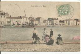 SAINT-GILLES.......VENDEE.....le Quai.....agréable Animation....en 1907 - Saint Gilles Croix De Vie
