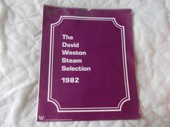 Calendrier Calendar The David Weston Steam Selection 1982 Chemin De Fer Train - Boeken, Tijdschriften, Stripverhalen