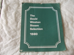 Calendrier Calendar The David Weston Steam Selection 1980 Chemin De Fer Train - Boeken, Tijdschriften, Stripverhalen