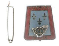 Insigne , Militaria , Militaire , 4 E Régiment Des CHASSEURS ,armée De Terre , 3 Scans, Frais Fr : 1.65 E - Army