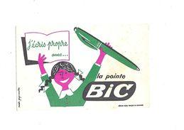 Buvard  écriture Poibte Bic - Buvards, Protège-cahiers Illustrés