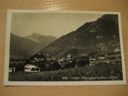 OEX Chateau Castle Dent De Corjon Mountain Mountains Post Card VAUD Switzerland - VD Vaud