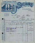 33 - LIBOURNE - FACTURE - Produits Agricoles Et Viticoles - R. Sicaire - Landwirtschaft