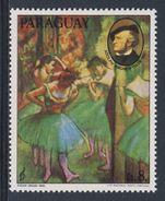 Paraguay 1980 Mi 3296 ** Scene Ballet / Ballettszene Of Edgar Degas - Music / Musik Richard Wagner - Music