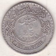 ETAT DE SYRIE .25 PIASTRES 1936. ARGENT - Syrie