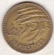 REPUBLIQUE LIBANAISE .10 PIASTRES 1955 - Libano